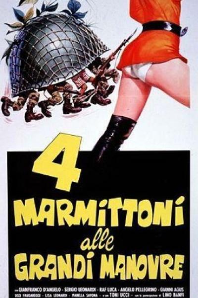 Caratula, cartel, poster o portada de 4 marmittoni alle grandi manovre