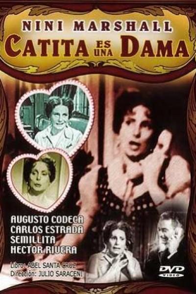 Caratula, cartel, poster o portada de Catita es una dama