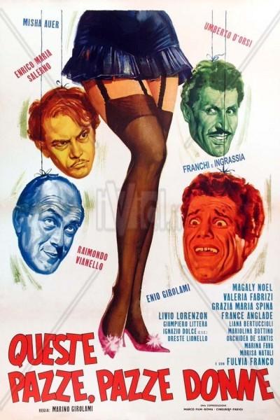 Caratula, cartel, poster o portada de Queste pazze pazze donne