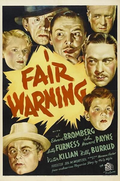 Caratula, cartel, poster o portada de Fair Warning