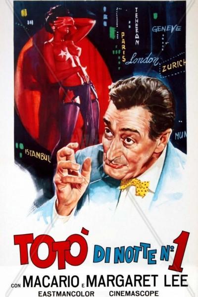 Caratula, cartel, poster o portada de Totò di notte n. 1