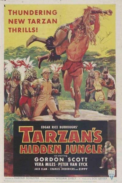 Caratula, cartel, poster o portada de Tarzán en la selva escondida