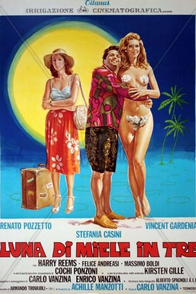 Caratula, cartel, poster o portada de Luna de miel a tres