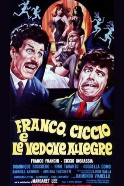 Caratula, cartel, poster o portada de Franco, Ciccio e le vedove allegre