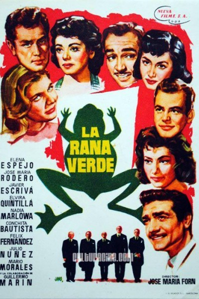 Caratula, cartel, poster o portada de La rana verde