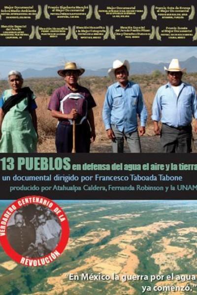 Caratula, cartel, poster o portada de 13 pueblos en defensa del agua, el aire y la tierra