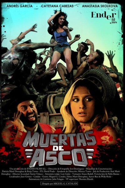 Caratula, cartel, poster o portada de Muertas de asco