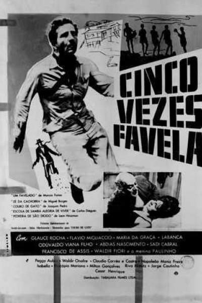 Caratula, cartel, poster o portada de Cinco vezes Favela