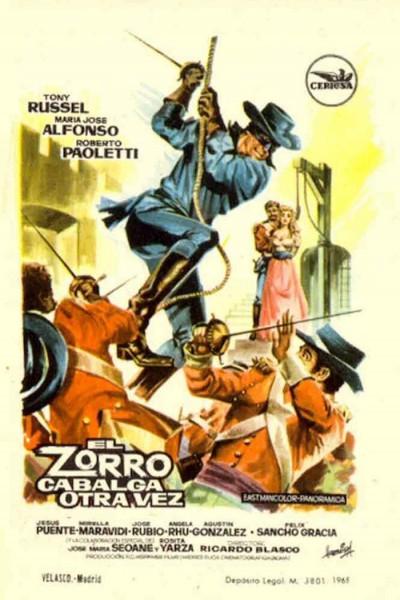 Caratula, cartel, poster o portada de El Zorro cabalga otra vez