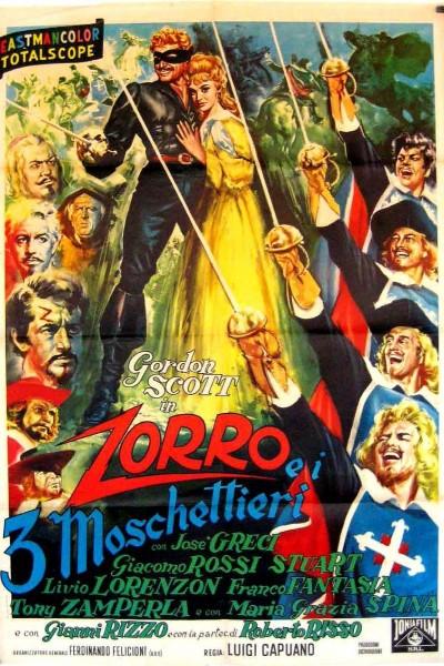 Caratula, cartel, poster o portada de El Zorro y los tres mosqueteros