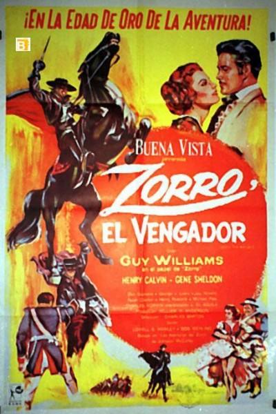 Caratula, cartel, poster o portada de El Zorro vengador