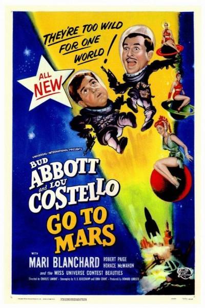 Caratula, cartel, poster o portada de Abbott y Costello van a Marte
