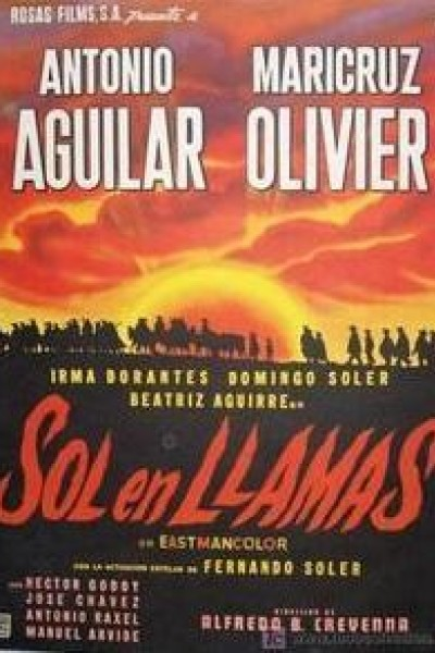 Caratula, cartel, poster o portada de Sol en llamas