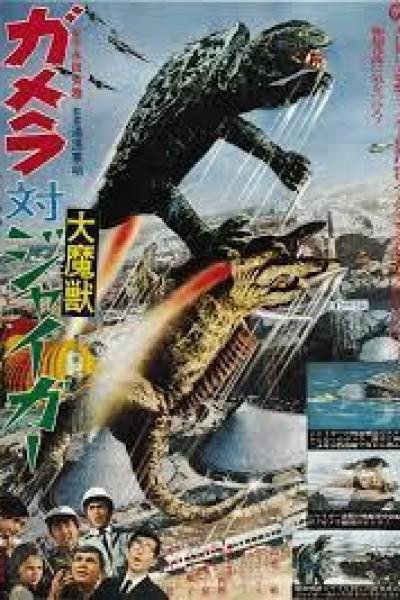 Caratula, cartel, poster o portada de Gamera contra Jiger, el señor del caos