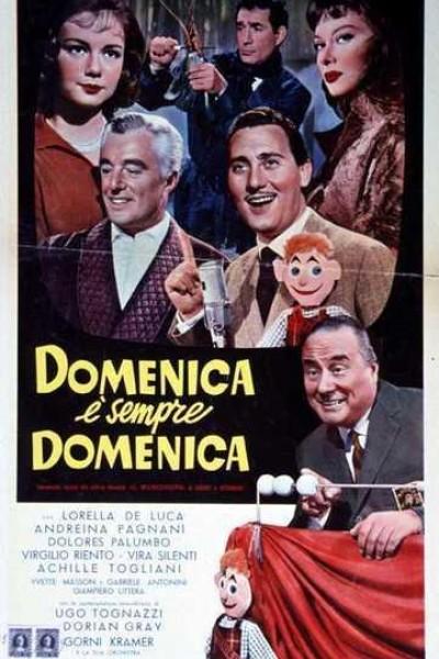 Caratula, cartel, poster o portada de Domingo es siempre domingo
