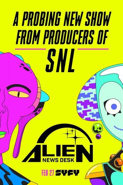 Caratula, cartel, poster o portada de Alien News Desk