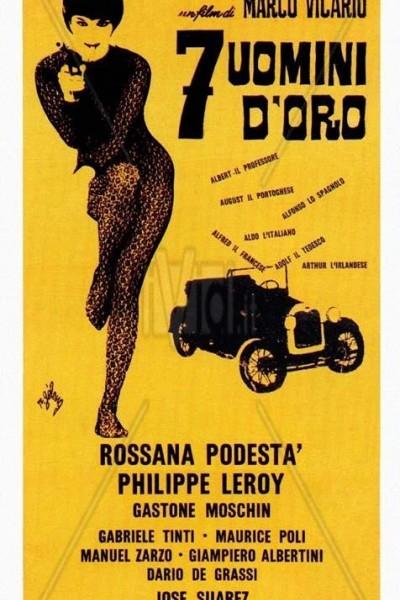 Caratula, cartel, poster o portada de Siete hombres de oro