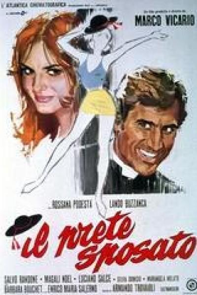Caratula, cartel, poster o portada de El cura casado