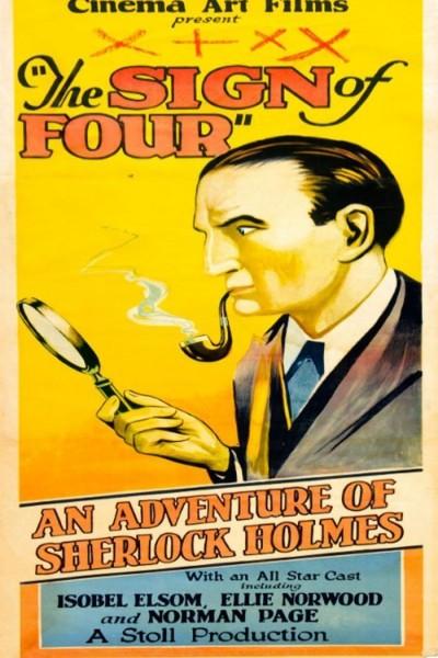 Caratula, cartel, poster o portada de La marca de los cuatro