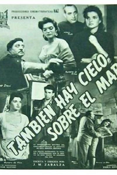 Caratula, cartel, poster o portada de También hay cielo sobre el mar