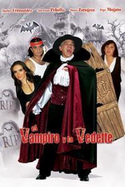 Caratula, cartel, poster o portada de El vampiro y la vedette