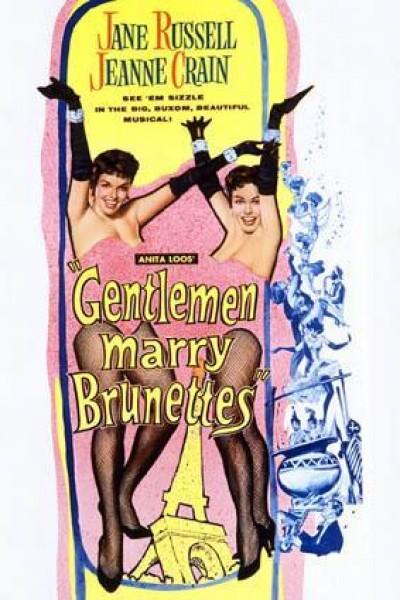 Caratula, cartel, poster o portada de Escándalos en París (Los caballeros se casan con las morenas)