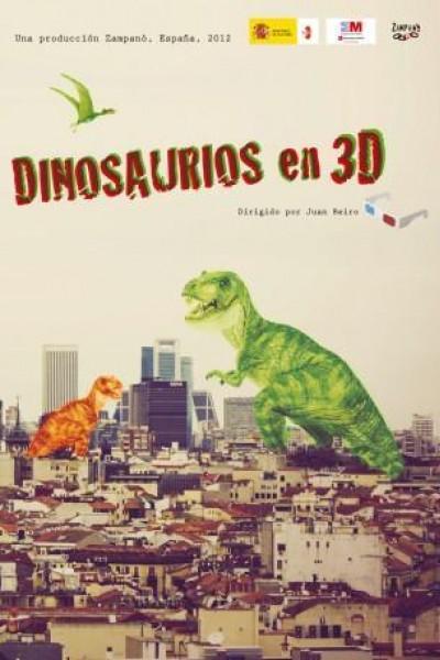 Caratula, cartel, poster o portada de Dinosaurios en 3D