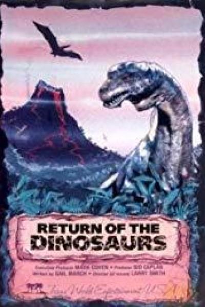 Caratula, cartel, poster o portada de El retorno de los dinosaurios