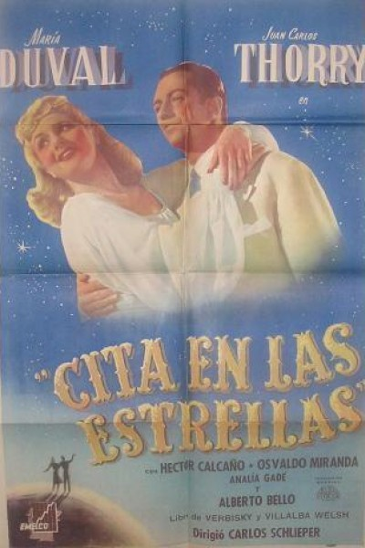Caratula, cartel, poster o portada de Cita en las estrellas