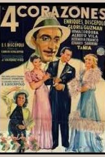 Caratula, cartel, poster o portada de Cuatro corazones