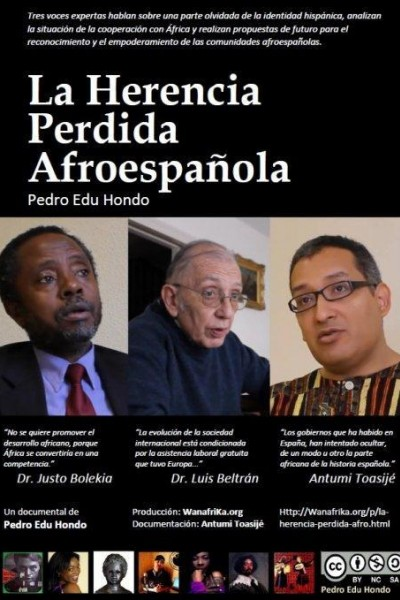 Caratula, cartel, poster o portada de La herencia perdida afroespañola
