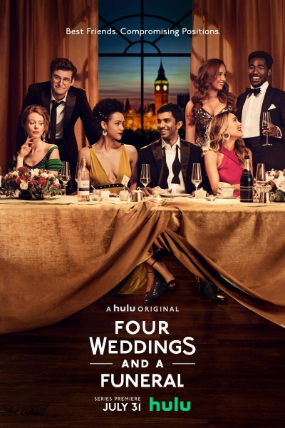 Caratula, cartel, poster o portada de Four Weddings and a Funeral