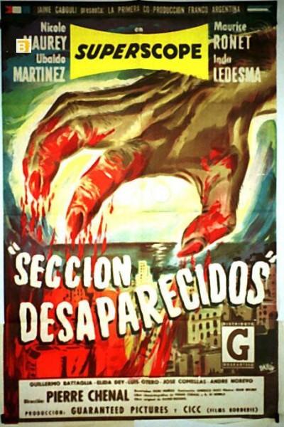 Caratula, cartel, poster o portada de Sección desaparecidos