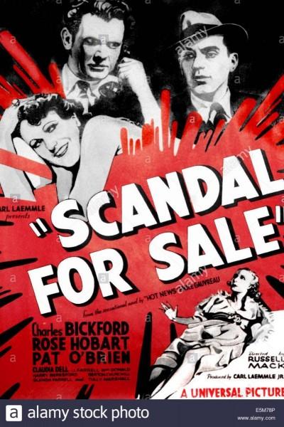 Caratula, cartel, poster o portada de Mercado de escándalos