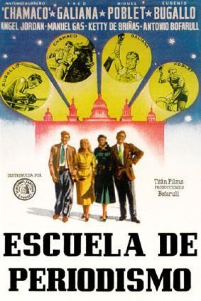 Caratula, cartel, poster o portada de Escuela de periodismo