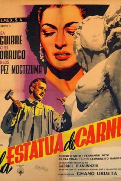 Caratula, cartel, poster o portada de La estatua de carne