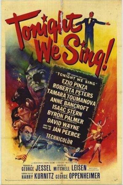 Caratula, cartel, poster o portada de Tonight We Sing