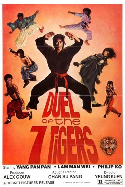 Caratula, cartel, poster o portada de La furia de los siete tigres