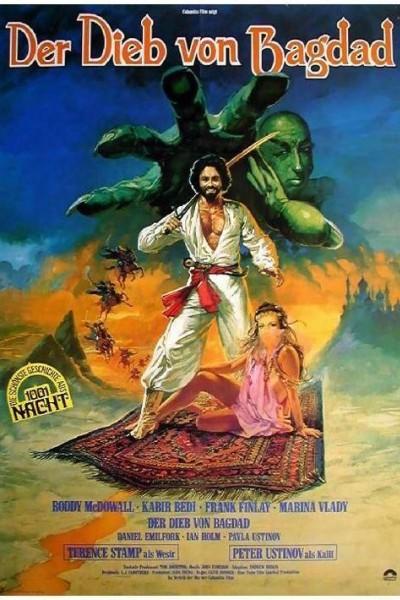 Caratula, cartel, poster o portada de Las aventuras del ladrón de Bagdad