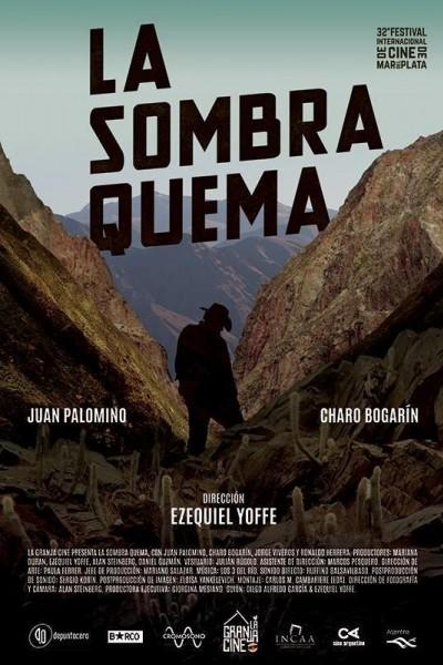 Caratula, cartel, poster o portada de La sombra quema