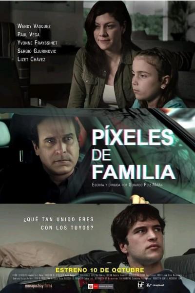Caratula, cartel, poster o portada de Pixeles de familia
