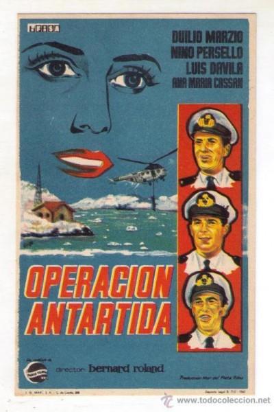 Caratula, cartel, poster o portada de Operación Antártida