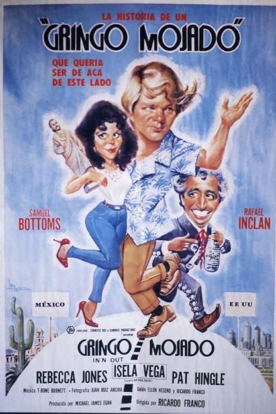 Caratula, cartel, poster o portada de Gringo mojado