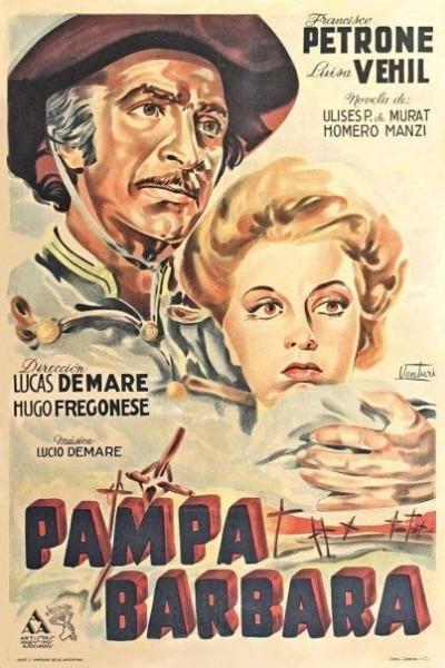 Caratula, cartel, poster o portada de Pampa bárbara