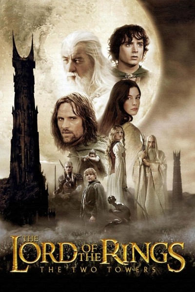 Caratula, cartel, poster o portada de El señor de los anillos: Las dos torres