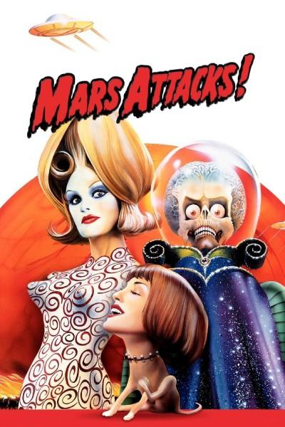 Caratula, cartel, poster o portada de Mars Attacks!