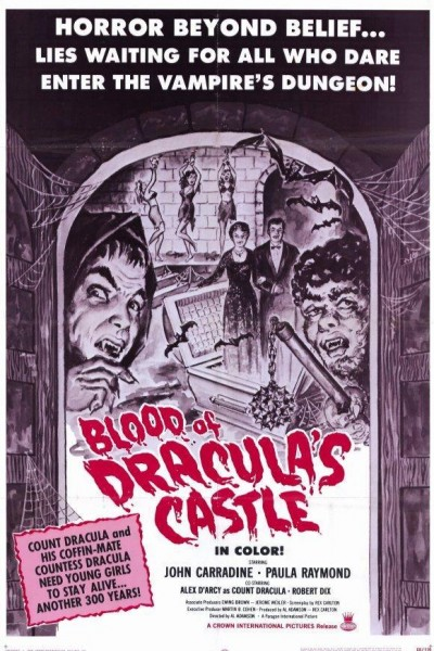 Caratula, cartel, poster o portada de Blood of Dracula\'s Castle