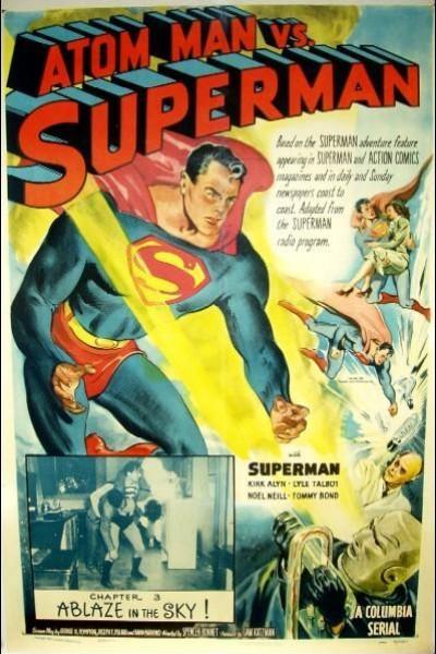 Caratula, cartel, poster o portada de Atom Man vs. Superman