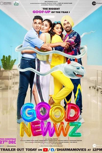 Caratula, cartel, poster o portada de Good Newwz