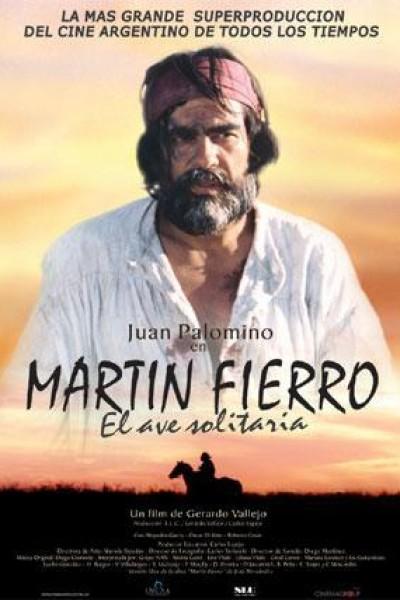 Caratula, cartel, poster o portada de Martín Fierro, el ave solitaria